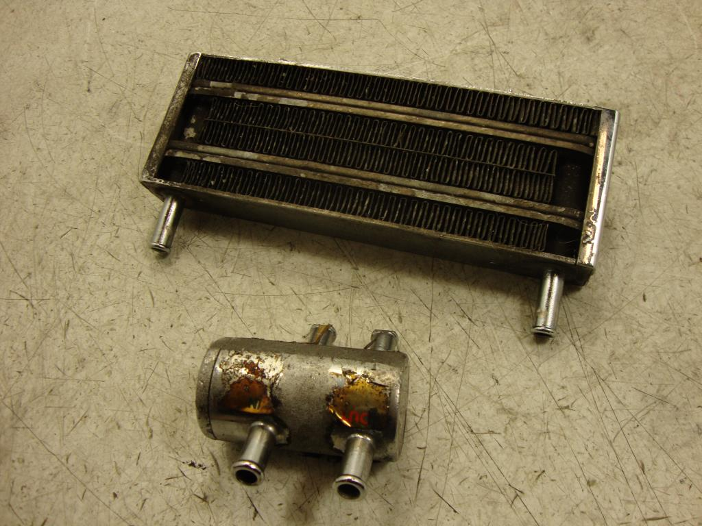 Harley Engine Oil Coolers : Harley davidson touring flh t oil cooler w