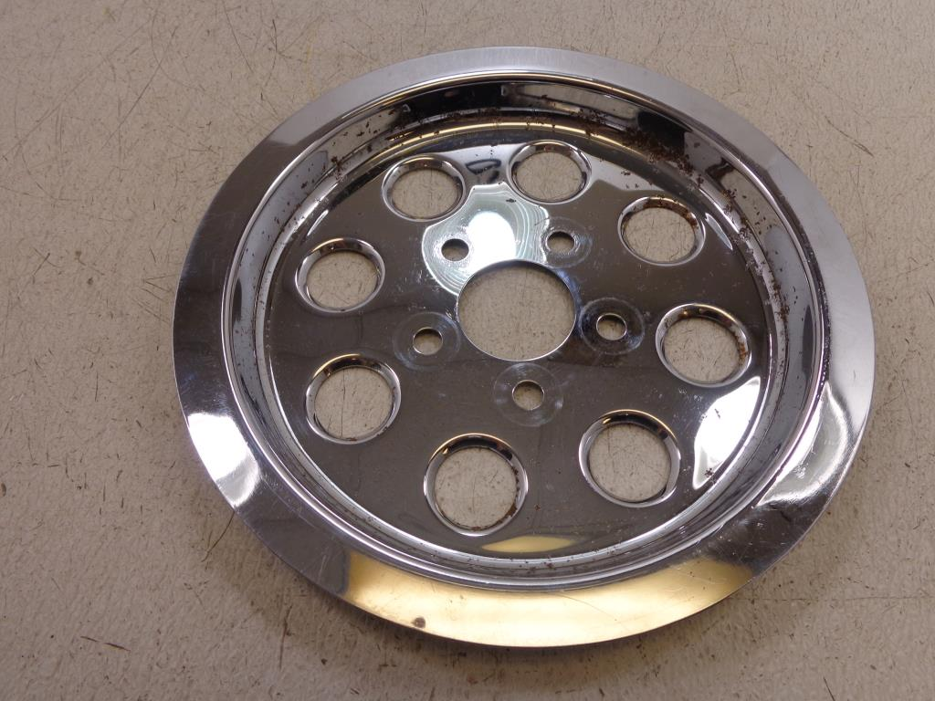 Details about Harley Davidson CHROME REAR SPROCKET COVER 85-99 70T Dyna FXR  Touring Softail